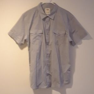 Levi's western shirt gray short sleeve